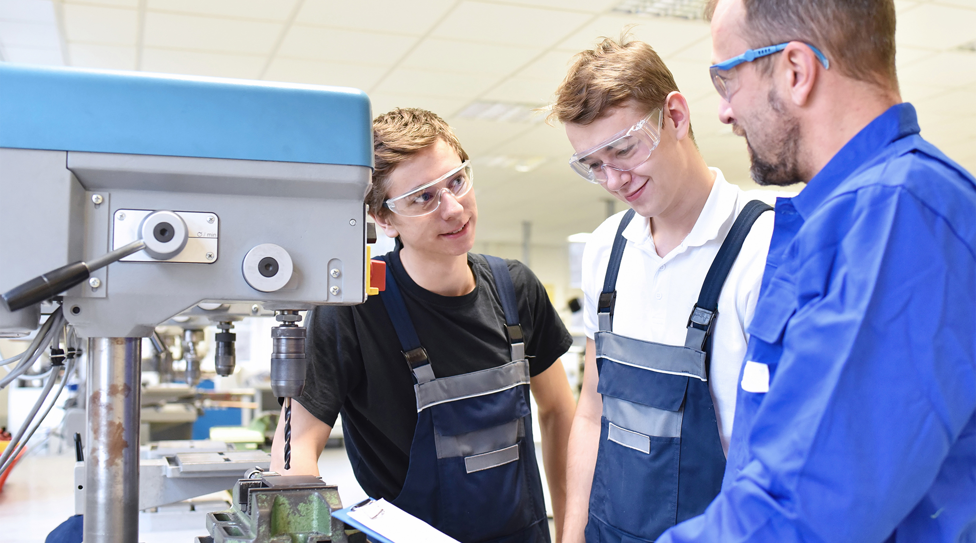 Trade industry appreciates doing on the job training education with mentor